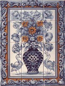 Azulejos Terra Viva Portugal - bouquet2 - Pannello Di Ceramica