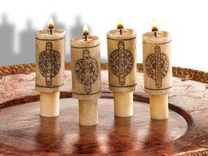 WHITE LABEL - bouchon de bouteille de vin en forme bougie deco - Tappo Bottiglia