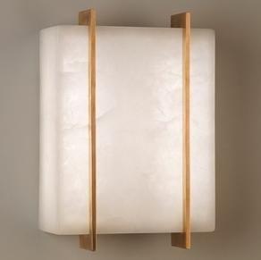 Vaughan - stockport alabaster  - Lampada Da Parete