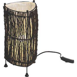Aubry-Gaspard - lampe en coco - Lampada Da Tavolo