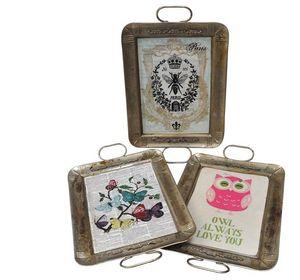 SHOW-ROOM - butterflies, owl, bee - Vassoio