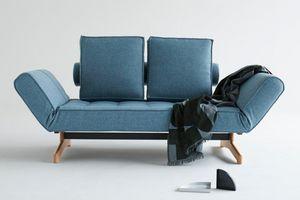 INNOVATION - canapé ghia wood bleu jean convertible lit 210*90  - Divano Letto Clic Clac (apertura A Libro)