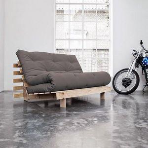 WHITE LABEL - canapé bz style scandinave roots futon gris coucha - Divano Letto Con Apertura A Scorrimento