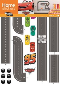 Nouvelles Images - sticker mural cars circuit voiture - Adesivo Decorativo Bambino