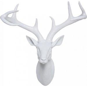 KARE DESIGN - tête antler deer white - Trofeo Di Caccia