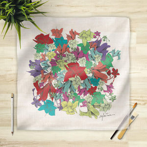 la Magie dans l'Image - foulard fleurs motif - Foulard Quadrato