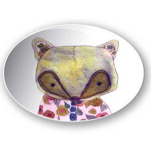 la Magie dans l'Image - assiette mon petit renard rose - Piattino Per Bambini