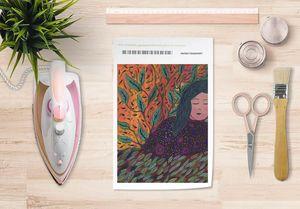 la Magie dans l'Image - papier transfert rêveuse aux cheveux verts - Trasferibile