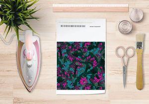 la Magie dans l'Image - papier transfert tropical flowers forêt - Trasferibile