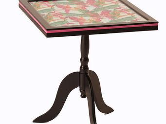 RELOADED DESIGN - mini table pink birds small - Tavolino Rotondo