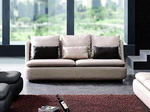 WHITE LABEL - canapé 3 places en tissu doomys - Divano 3 Posti