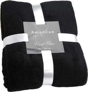 Amadeus - plaid doudou couleur noir - Coperta