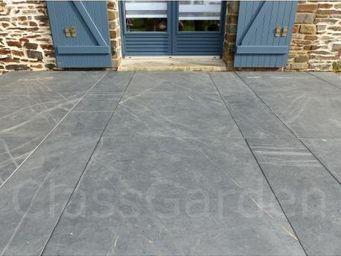 CLASSGARDEN - terrasse de 20 m² en dalle sciée de 100x100 - Lastra Per Pavimentazione Esterna