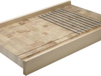 CHABRET - plan de travail en bois avec grille - Credenzina Da Cucina