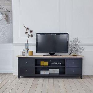 BOIS DESSUS BOIS DESSOUS - meuble tv en bois d'acajou et teck 180 londres - Mobile Tv & Hifi