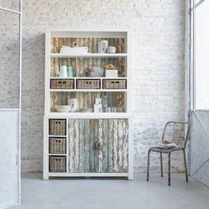 BOIS DESSUS BOIS DESSOUS - vaisselier en bois de pin recyclé 125 atlantic - Credenza Con Piattaia