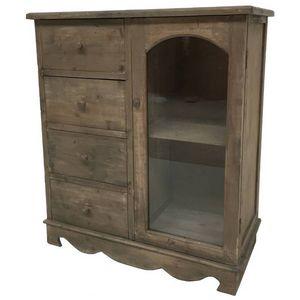 CHEMIN DE CAMPAGNE - meuble bahut confiturier buffet vaisselier commode - Credenza Con Piattaia