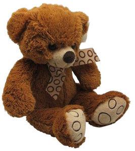 Aubry-Gaspard - peluche ours en acrylique brun - Peluche