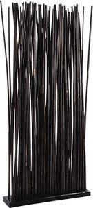 Aubry-Gaspard - paravent 34 tiges de bambou patiné noir - Paravento Separé