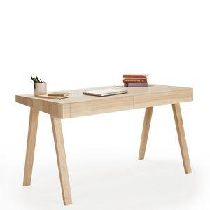 EMKO - desk 4.9 - bureau 140 x 70 cm frêne lituanien - Scrittoio