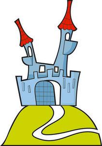DECOLOOPIO - chateau de la féerie - Adesivo Decorativo Bambino