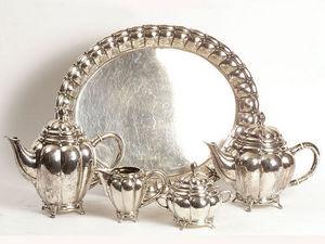 ANTIQUES LACARTA DECORACIÓN - coffee set of silver s. xix - Servizio Da Caffè