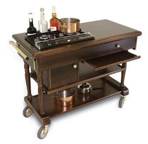 Servizial - table à flamber mercue - Carrello Flambé
