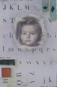 Natasha Kerr Fine Art Textiles - baby face - Quadro Decorativo
