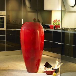 POTERIE GOICOECHEA - vase haut galbé fabrication à la corde - Vaso D'arredamento