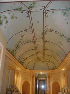 pique decor - plafond salle de bain, ciel et tonnelle - Soffitto Dipinto