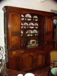 Antiquites Le Vieux Moulin -  - Credenza Con Piattaia