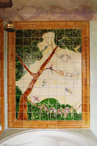 Genevieve Bonieux - oiseaux (160 x 180 cm) - Piastrella Personalizzabile