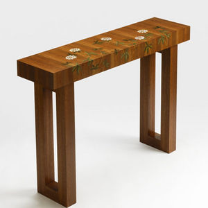 Anita Marquetry - passion flower table - Tavolo Consolle