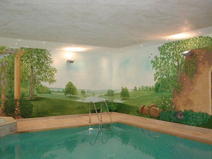 Helen Barnes - swimming pools - Trompe L'oeil