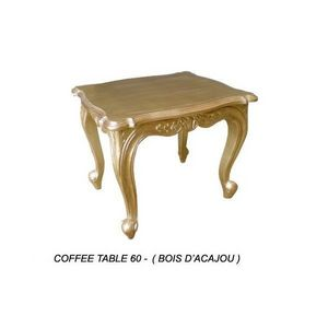 DECO PRIVE - table baroque basse en bois dore 60 cm deco prive - Tavolino Per Divano