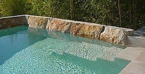 Jean-Jacques Lecuru - espace piscine - Giardino All'inglese