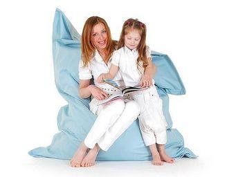 BELIANI - pouf, coussin en format 140 x 180 cm bleu clair - Pouf