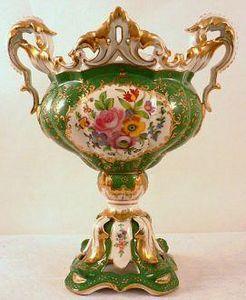 Demeure et Jardin - coupe montée napoléon iii verte - Coppa Decorativa