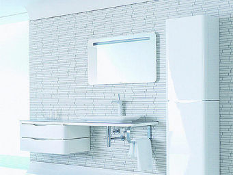UsiRama.com - meuble salle de bain design taime 1.5m - Mobile Bagno