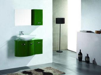UsiRama.com - meuble salle de bain design ver - vert 90cm - Mobile Bagno