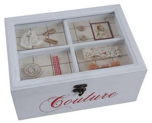 Aubry-Gaspard - boite à couture en bois laqué - Scatola Da Cucito