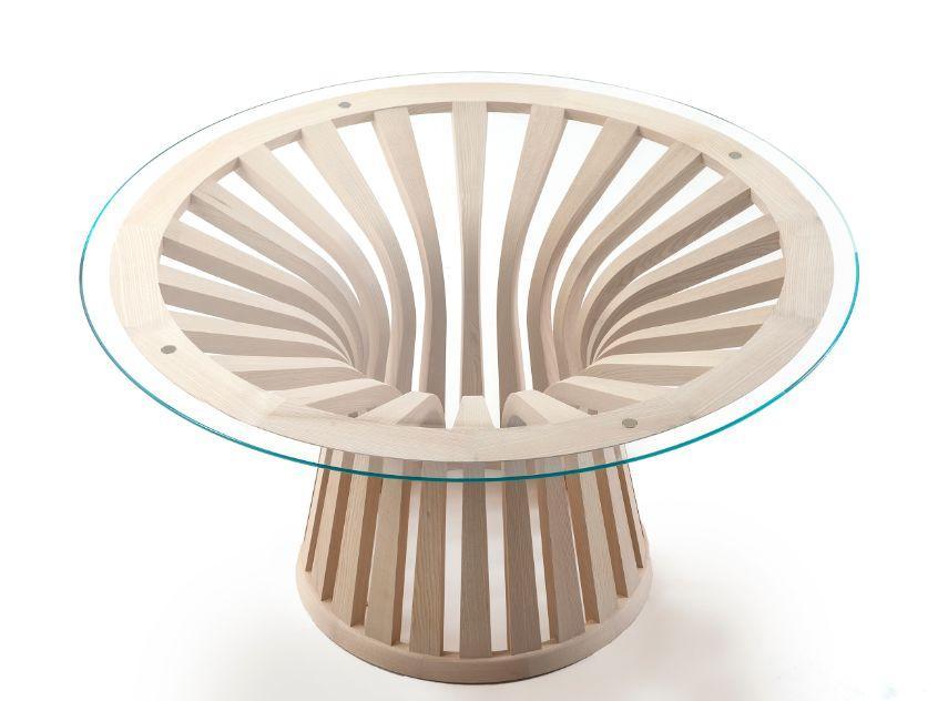 Tavoli Da Pranzo Cassina.390 Lebeau Wood Tavolo Da Pranzo Rotondo Naturale Cassina
