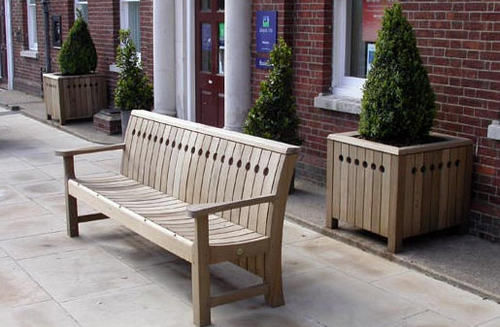 Gaze Burvill - Vaso stile Orangerie-Gaze Burvill-Broadwalk Planter in Oak